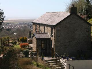Margaret's cottage set on a hillside above Burry Port