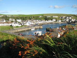 Portpatrick Village. Moir Cottage in centre