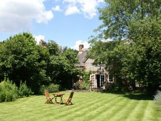 The  sunny south facing rear garden