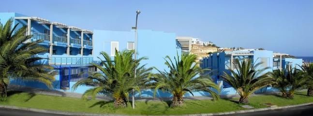 Exterior Residencial Jandía Marina frente al Muelle deportivo de Morro Jable