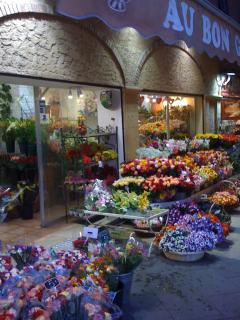 Flower market on Cours Saleya -- steps away!