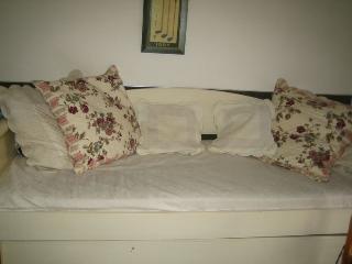 le lit -canapé dans le salon