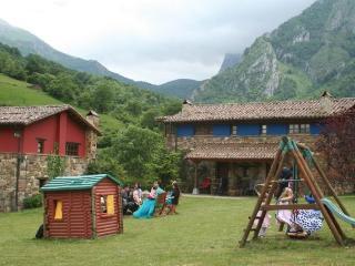 Casa rural de madera y piedra con chimenea, Viscarcel.
