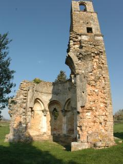 Ruins of medieval chapel near St.Victor