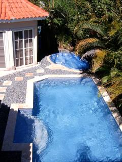 View of your private pool and jacuzzi from the roof top deck