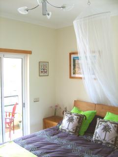 Bedroom with own breakfast balcony, & LCD tv.
