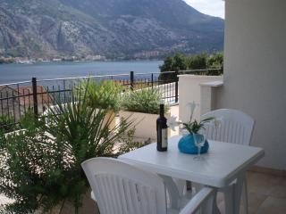 A drink on the terrace - overlooking sea and mountains