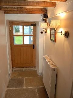 Stone floor in the kitchen & hallway