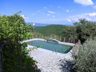 Swimming pool (10 metres x 5.5 metres) with ozone purification and views to south, east and west