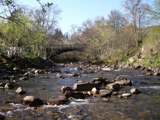 The Keltney Burn (river) from the garden