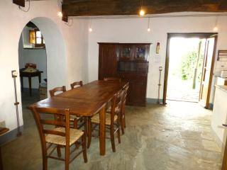 The dining area showing doors  to terrace