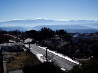 vista a la Sierra de Béjar desde los balcones