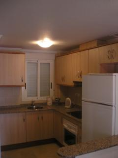Kitchen area with all necessary facilites