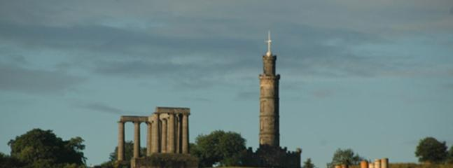 View of Calton hill from living room window