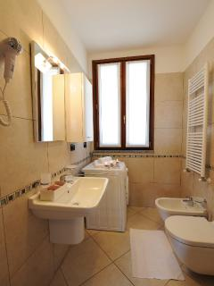 Modern and newly fitted bathroom with shower