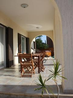 Outside terraced dining area...