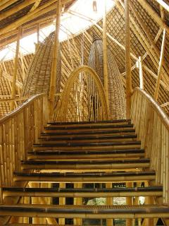 Walking up the steps to entrance reveals remarkable all natural architecture.....See oval doorway!