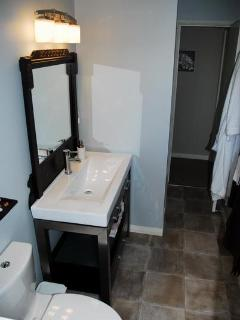 Three piece bathroom including shower
