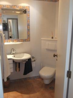 Shower room on the lower floor
