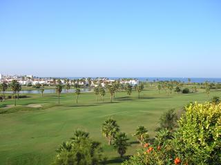 vista mar y golf desde terraza principal