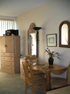 Armoir and dining table w 4 chairs
