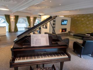 The baby grand piano