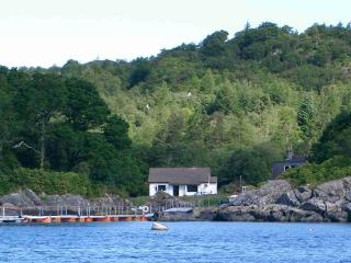 View of cottage from Loch Sunart