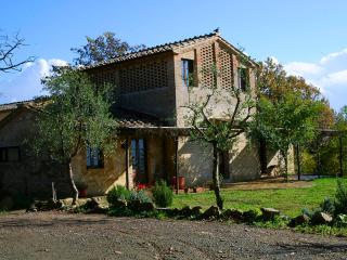 Wonderful cozy Fienile farmhouse at Borgo Castelrotto near Buonconvento