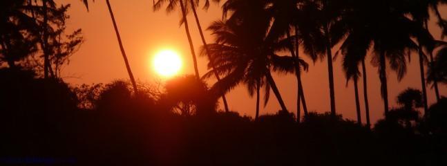 Sunset on Varca beach