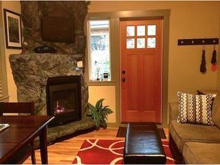 Cozy gas fireplace.