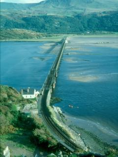 Rail & Foot Bridge over Mawddach.