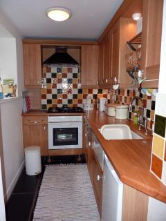 The Kitchen is small but perfectly formed - everything needed for cooking in style!