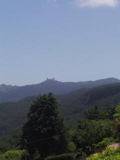 Mountain view to Sintra's Palacio de Pena