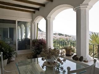 Covered terrace with view to Gib, Straits and Morocco, and Gaucin castle