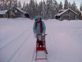 Getting around the village - Ylläs is for the young at heart as well