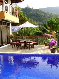 Villa Nirvana is set in the private hills above Bang Por beach stunning views