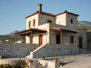 Hilltop villa in Stoupa, privacy, amazing sea view