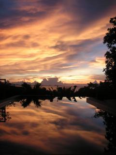 Pool evening light