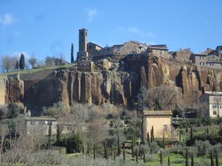 The view of San Giovenale, the quarter hosting our holiday house