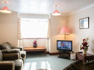 Flat 1 -lounge with flat screen freeview TV