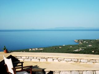 Villa Arsinoi in Stoupa with private pool, privacy and spectacular sea views.