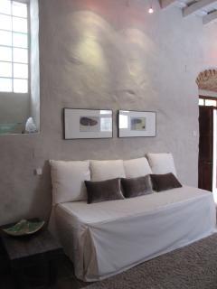 detalle sillón / 2 camas individuales