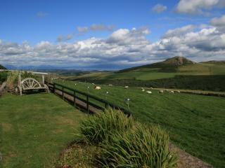 Views across Cardigan Bay towards Snowdonia