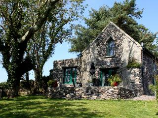 Garden Cottage, renovated 17th Century stone cottage with  wonderful sea views