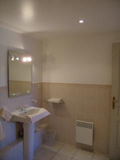Shower room with washbasin & WC