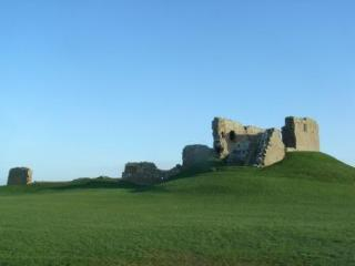 View of Duffus Castle from the garden - just 1 field away - ideal for those early morning walks!