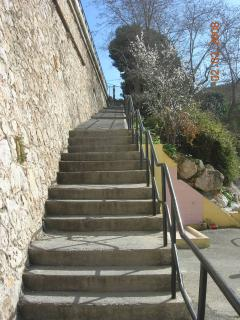 steps to Villefranche beach