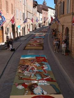 Città della Pieve during the Infiorata