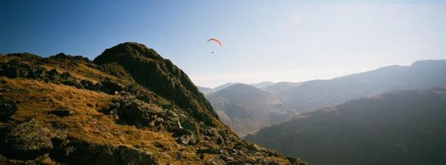 Paragliding over Borrowdale valley