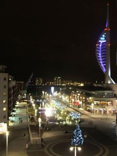 Balcony A View to Kill (Front) - Gunwharf by night